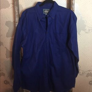 Woolrich royal blue cotton button down L